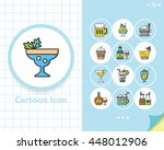 icon set drink vector