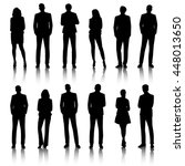 business people silhouettes | Shutterstock .eps vector #448013650