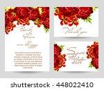 romantic invitation. wedding ... | Shutterstock .eps vector #448022410