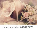 beautiful luxury bouquet and... | Shutterstock . vector #448022476