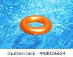 orange pool float  ring... | Shutterstock . vector #448026634