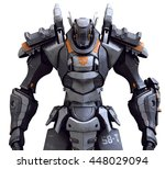 3d Rendering Of A Mech On A...