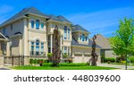 custom built luxury house in... | Shutterstock . vector #448039600