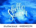 summer watercolor design....   Shutterstock .eps vector #448040194