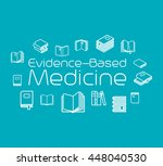 evidence based medicine concept ... | Shutterstock .eps vector #448040530