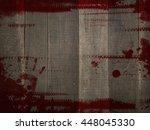 red grunge blood splash colour... | Shutterstock . vector #448045330