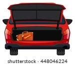 back of red car illustration | Shutterstock .eps vector #448046224