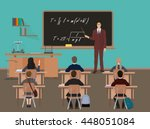 school lesson. little kids... | Shutterstock .eps vector #448051084