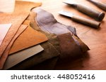 leather craft or leather... | Shutterstock . vector #448052416