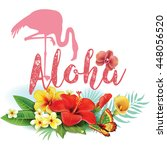 flamingoes and arrangement from ... | Shutterstock .eps vector #448056520