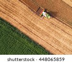 aerial view on the combine... | Shutterstock . vector #448065859