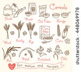 Set Drawings Of Cereals For...