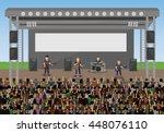 outdoor concert in the park  ... | Shutterstock .eps vector #448076110