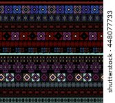 ethnic boho seamless pattern.... | Shutterstock .eps vector #448077733