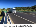 truck transportation on the road | Shutterstock . vector #448080484