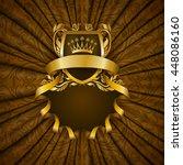 elegant golden frame with... | Shutterstock .eps vector #448086160