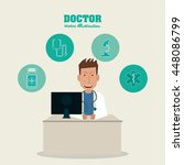 doctor icon. medical and health ... | Shutterstock .eps vector #448086799
