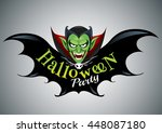 halloween party design template ... | Shutterstock .eps vector #448087180