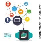 watch icon. wearable technology ... | Shutterstock .eps vector #448088599