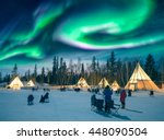 yellowknife  canada   march 17... | Shutterstock . vector #448090504