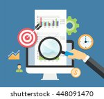 business analytic graph report... | Shutterstock .eps vector #448091470