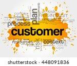 customer word cloud collage ... | Shutterstock .eps vector #448091836