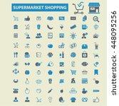 supermarket shopping icons | Shutterstock .eps vector #448095256