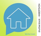 house vector icon  | Shutterstock .eps vector #448095454