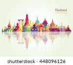 thailand detailed skyline....   Shutterstock .eps vector #448096126