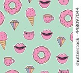 quirky cartoon patch | Shutterstock .eps vector #448097044