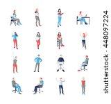 people  male  female  in... | Shutterstock . vector #448097224