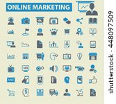 online marketing icons | Shutterstock .eps vector #448097509