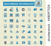 multimedia technology icons | Shutterstock .eps vector #448097524