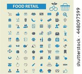 food retail icons | Shutterstock .eps vector #448097599