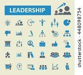 leader team icons   Shutterstock .eps vector #448098754