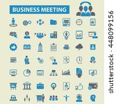 business meeting icons | Shutterstock .eps vector #448099156