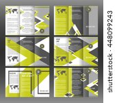 set of corporate trifold... | Shutterstock .eps vector #448099243