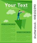 vector flyer design for business | Shutterstock .eps vector #448102390