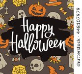 happy halloween. the trend... | Shutterstock .eps vector #448107979