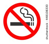 no smoking sign on white... | Shutterstock .eps vector #448108330