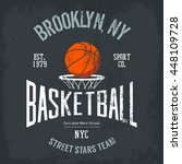 streetball or urban sport team... | Shutterstock .eps vector #448109728