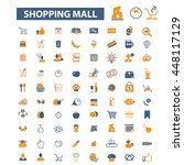 shopping mall icons | Shutterstock .eps vector #448117129