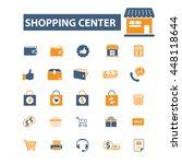 shopping center icons | Shutterstock .eps vector #448118644