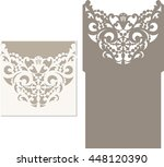 laser cut invitation card.... | Shutterstock .eps vector #448120390