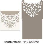 laser cut invitation card.... | Shutterstock .eps vector #448120390