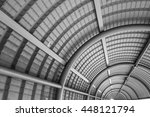 black and white metal tunnel