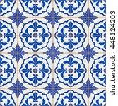 gorgeous seamless patchwork... | Shutterstock . vector #448124203