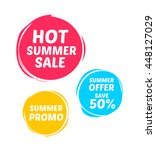 hot summer sale   promo marks | Shutterstock .eps vector #448127029