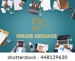 electronic mail technology... | Shutterstock . vector #448129630