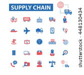 supply chain icons concept... | Shutterstock .eps vector #448130434